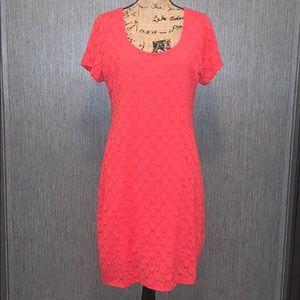 Isaac Mizrahi Lined Short Sleeve Fitted Dress XL